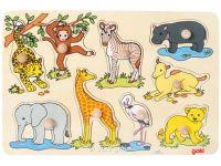 Knobelspiel/GeduldspielKinderpuzzle Steckpuzzle Afrikanische Tierkinder