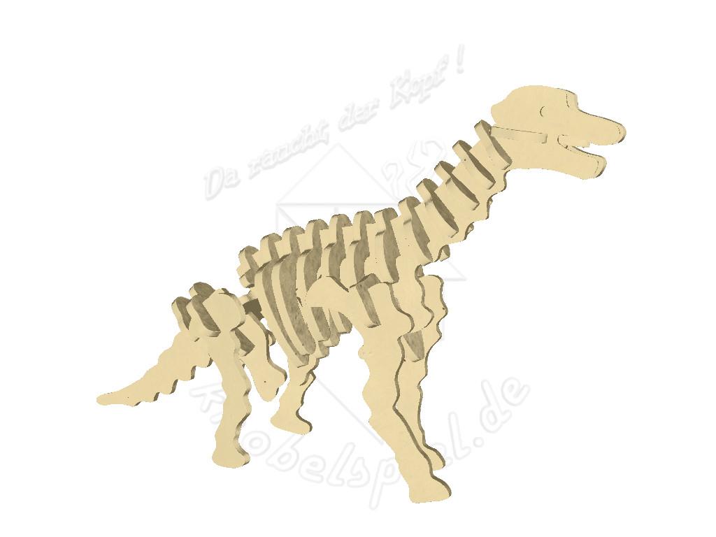 Knobelspiel/Geduldspiel3D Holzpuzzle Dinosaurier Brachiosaurus