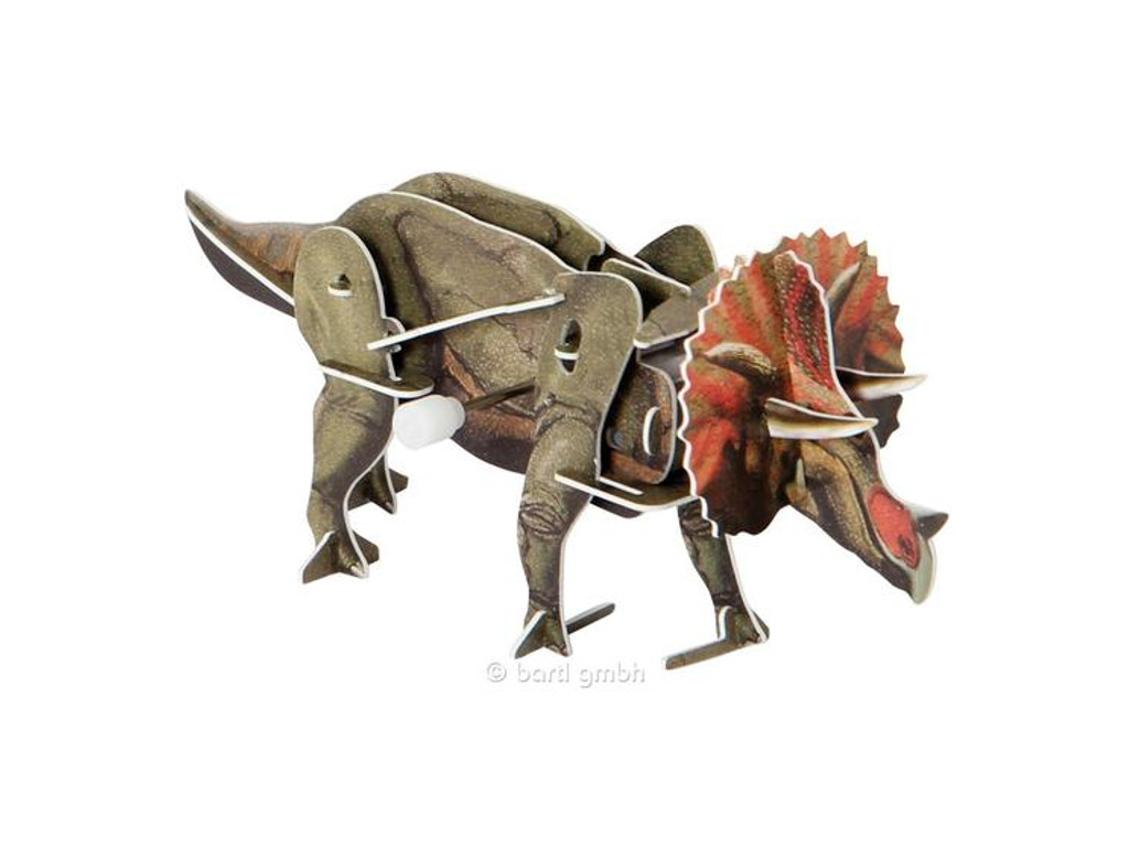3D Puzzle Dinosaurier mit Motor Triceratops