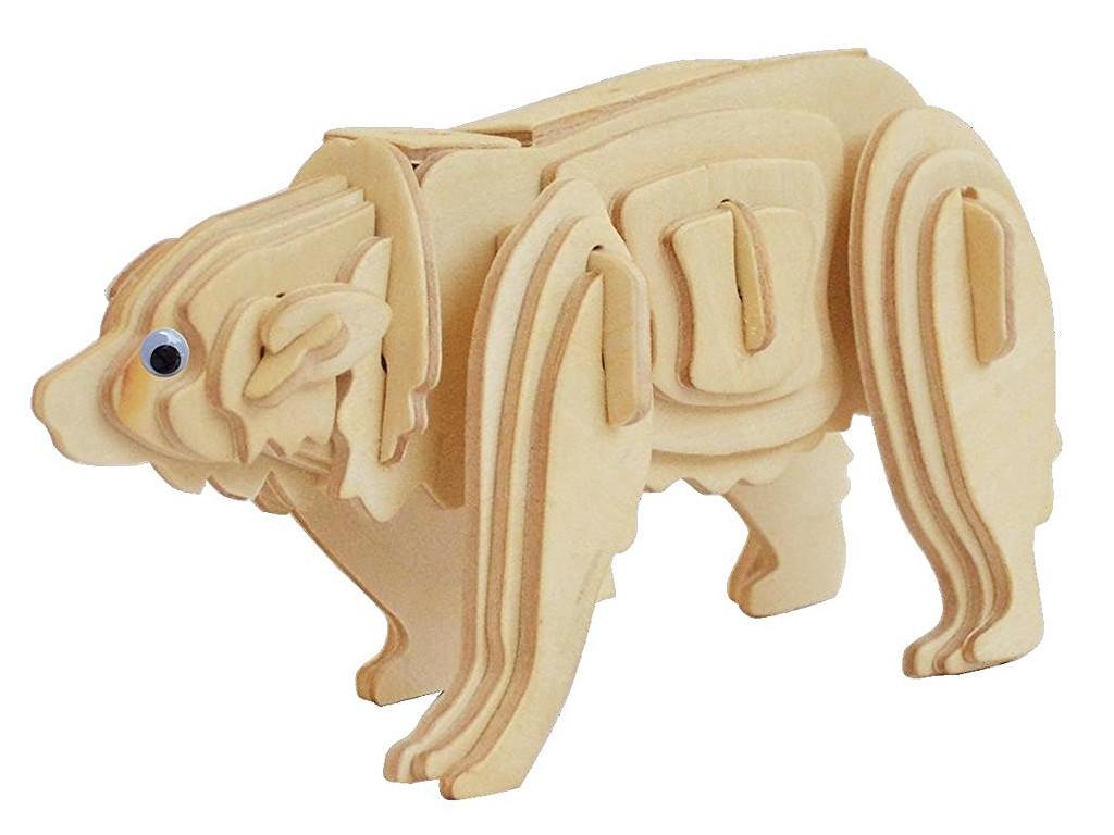 Knobelspiel/Geduldspiel3D Holzpuzzle Eisbär