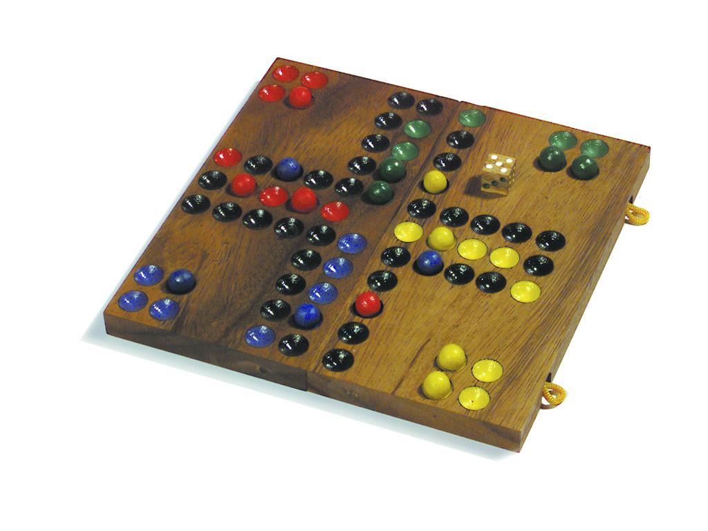 Knobelspiel/GeduldspielGesellschaftsspiel Ludo, Klappversion