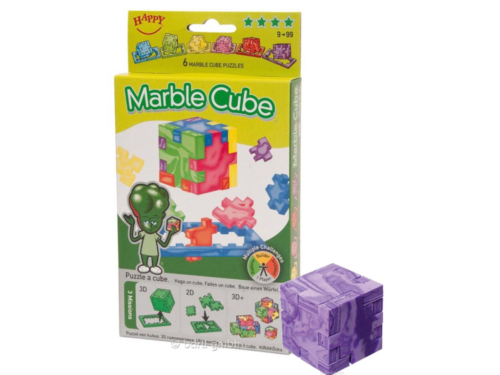 Happy Cube Marble Cube (6er)