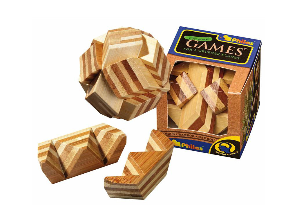 Knobelspiel/GeduldspielHolzknoten Ball-Puzzle,Bambus
