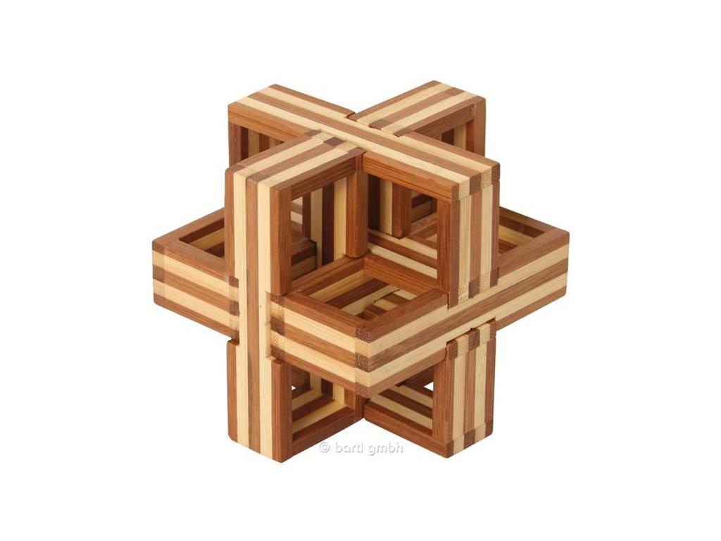 Holzknoten Bambus-Puzzle D