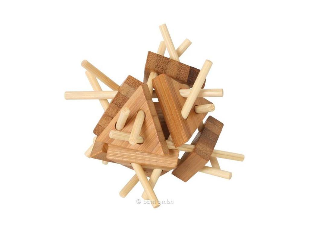 Holzknoten Bambus-Puzzle Dreiecke