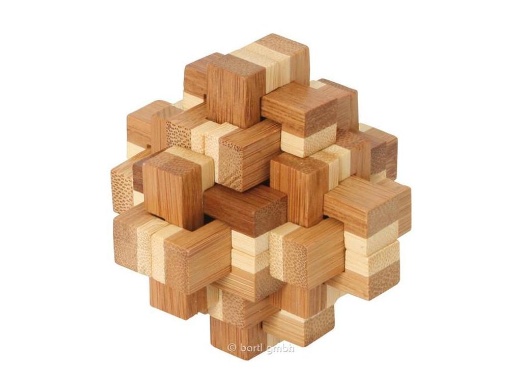 Holzknoten Bambus-Puzzle Kristallus