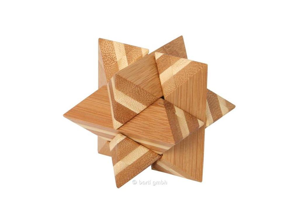 Knobelspiel/GeduldspielHolzknoten Bambus-Puzzle Stern