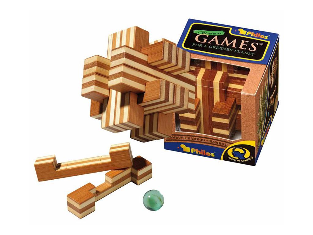 Knobelspiel/GeduldspielHolzknoten Cross Road Puzzle,Bambus