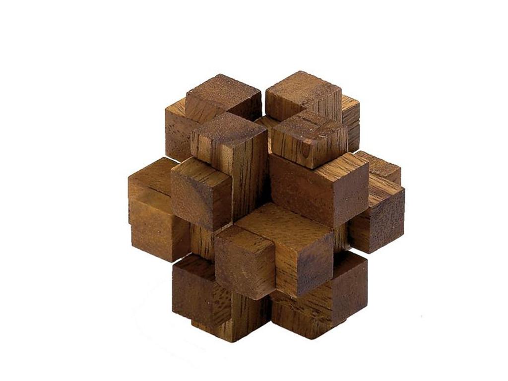 Knobelspiel/GeduldspielHolzknoten Gemini