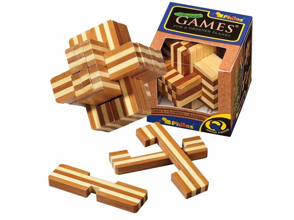 Knobelspiel/GeduldspielHolzknoten Teuflischer Knoten,Bambus