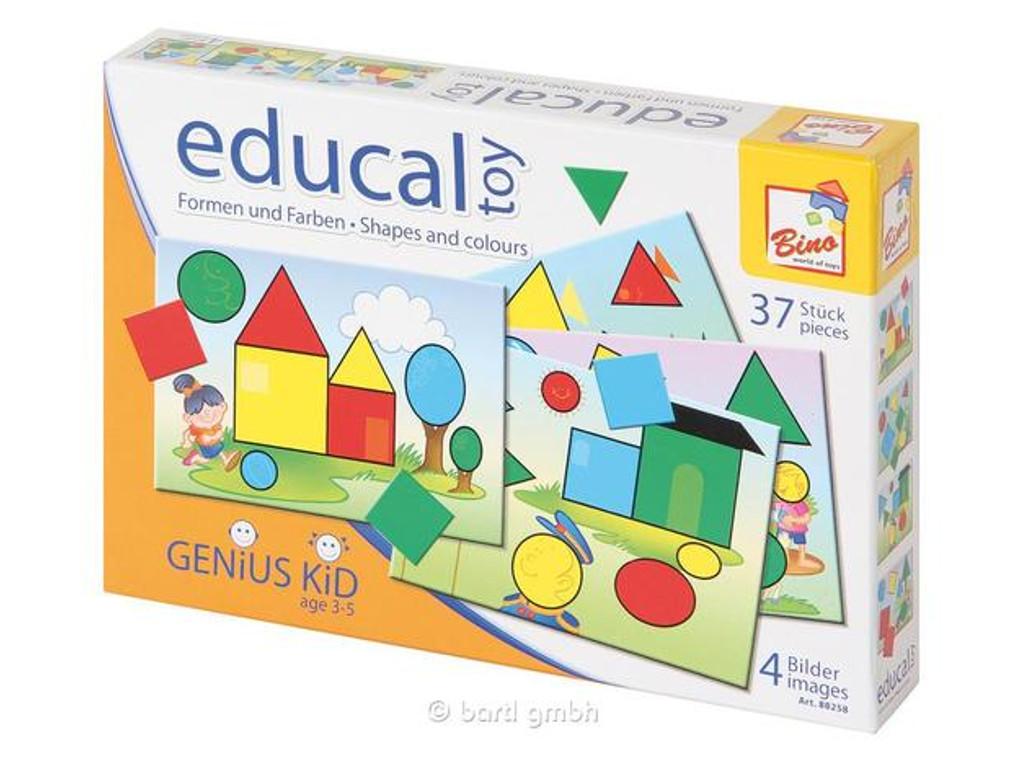 Kinderpuzzle Bino Form und Farben Spiel