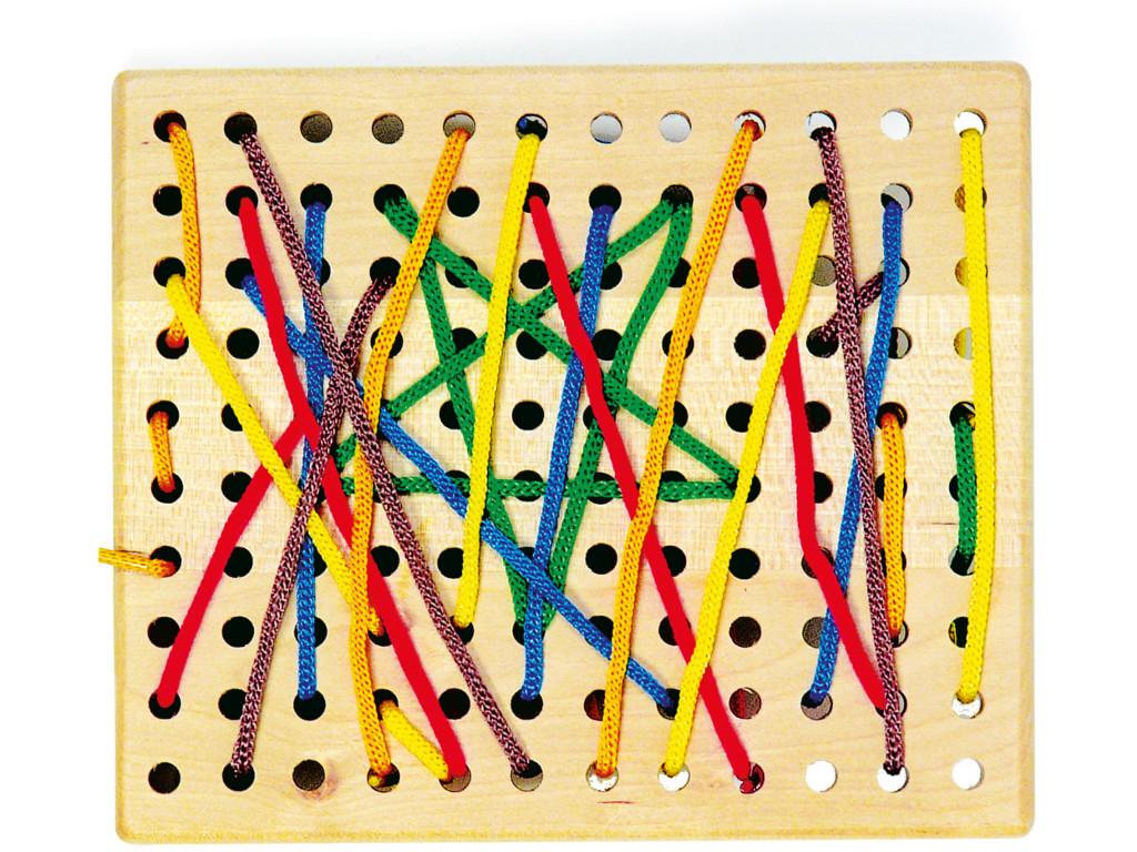 Knobelspiel/GeduldspielKinderpuzzle Fädelbrett