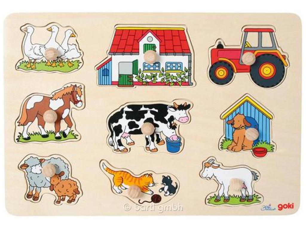 Kinderpuzzle Steckpuzzle Bauernhof