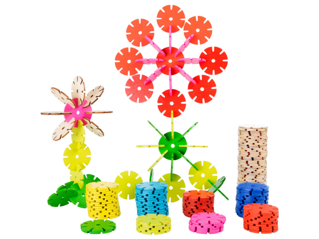 Kinderpuzzle Verbindungsspiel Blümchen