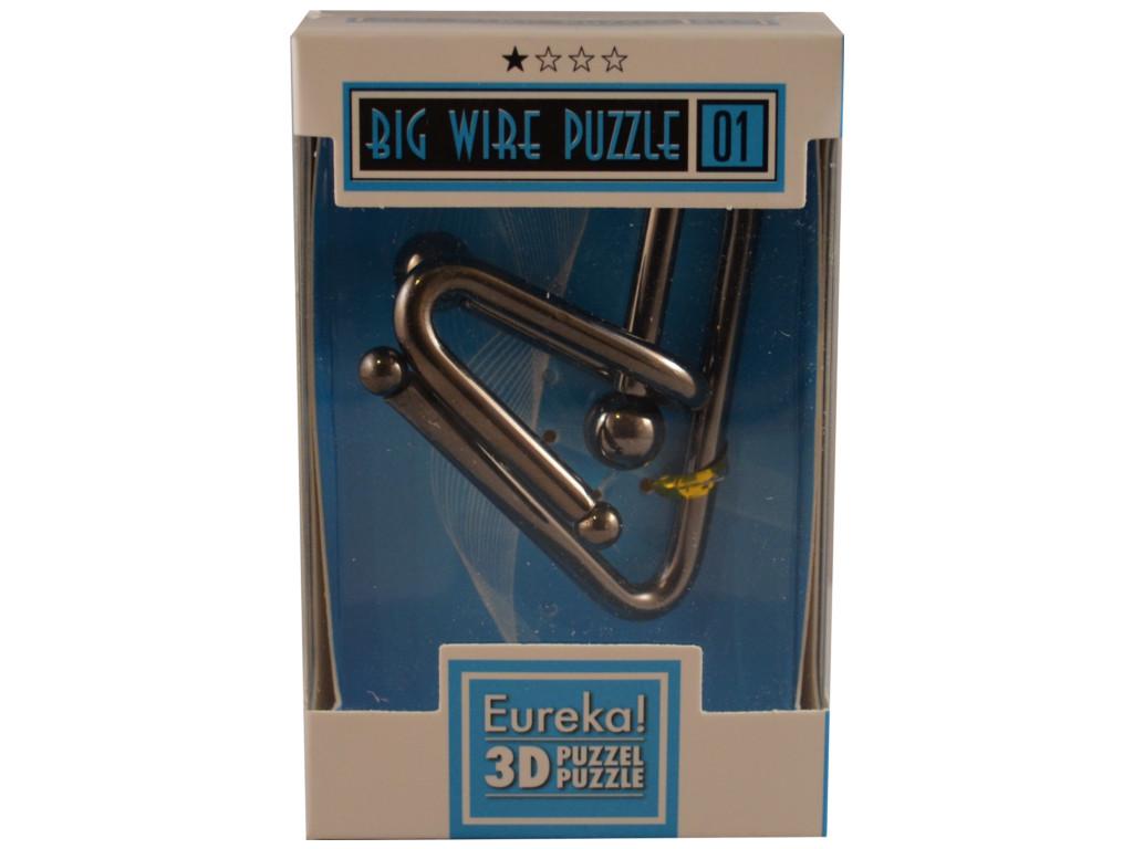 Knobelspiel/GeduldspielMetallpuzzle Big Wire Puzzle 01