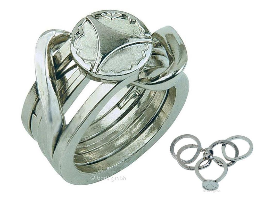 Knobelspiel/GeduldspielMetall Cast Puzzle Ring II