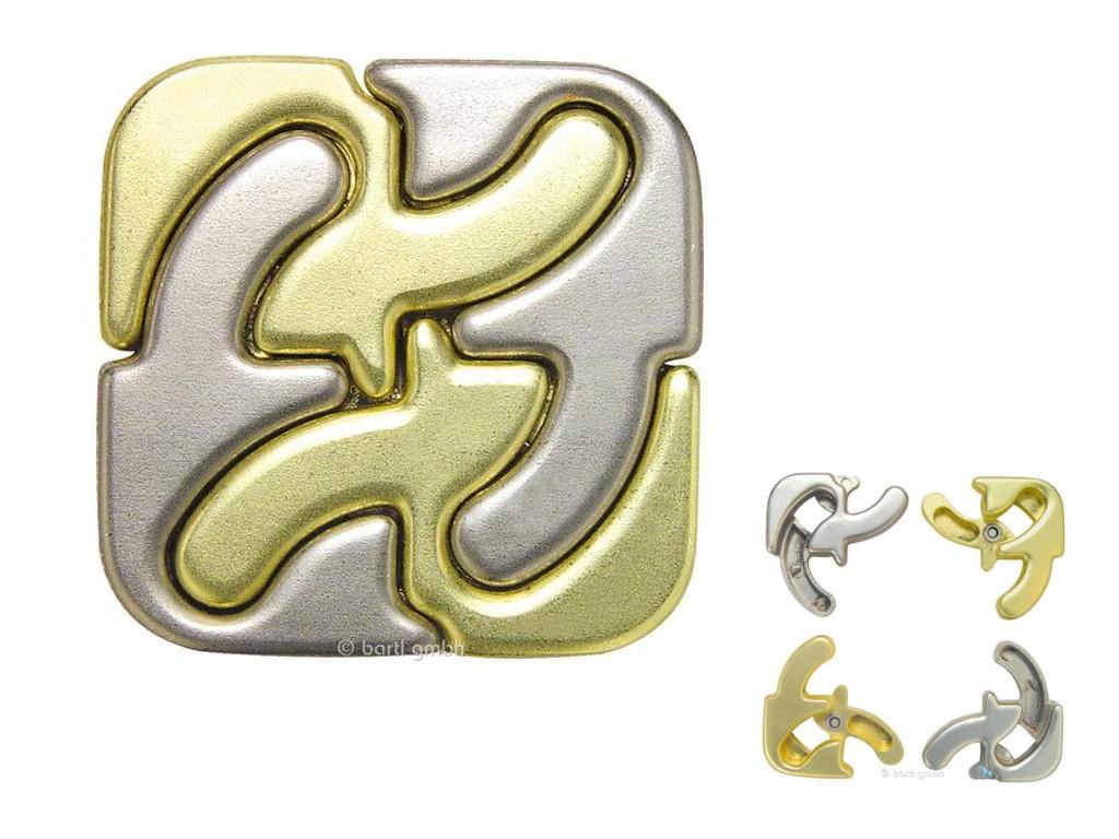 Metall Cast Puzzle Square