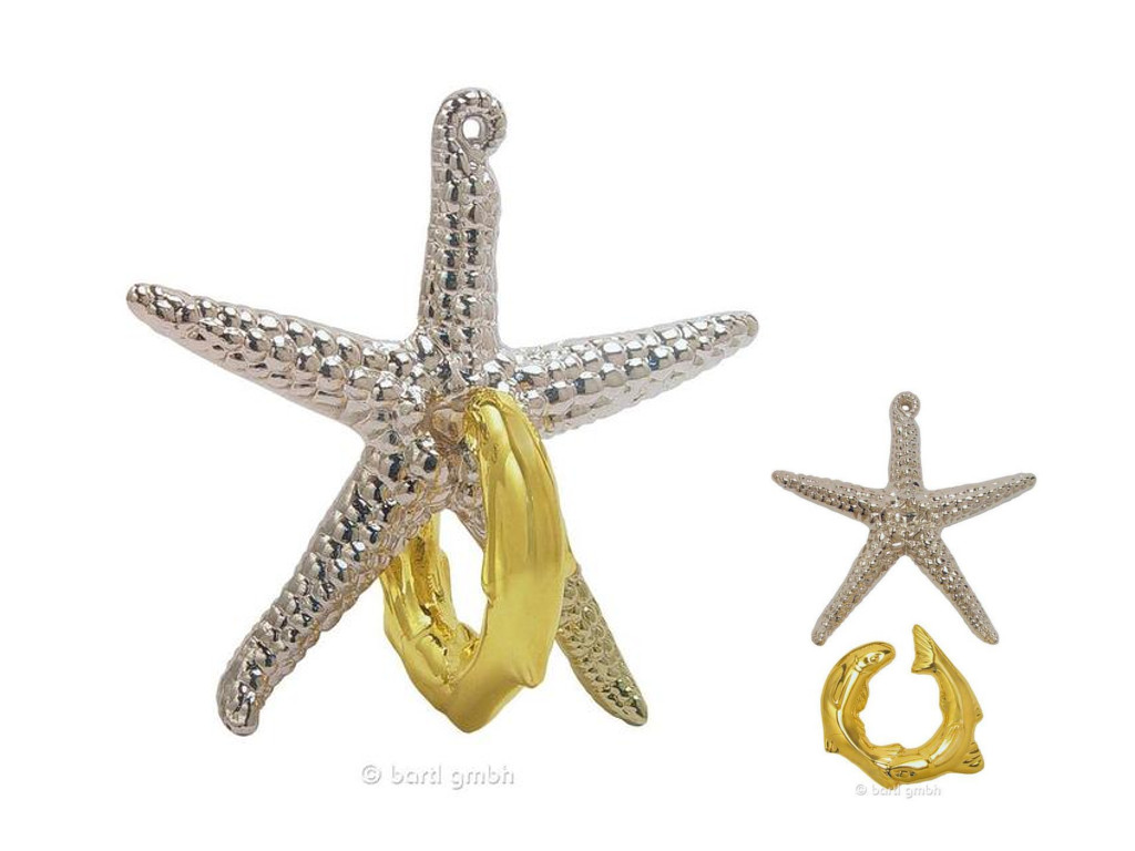 Knobelspiel/GeduldspielMetall Cast Puzzle Starfish