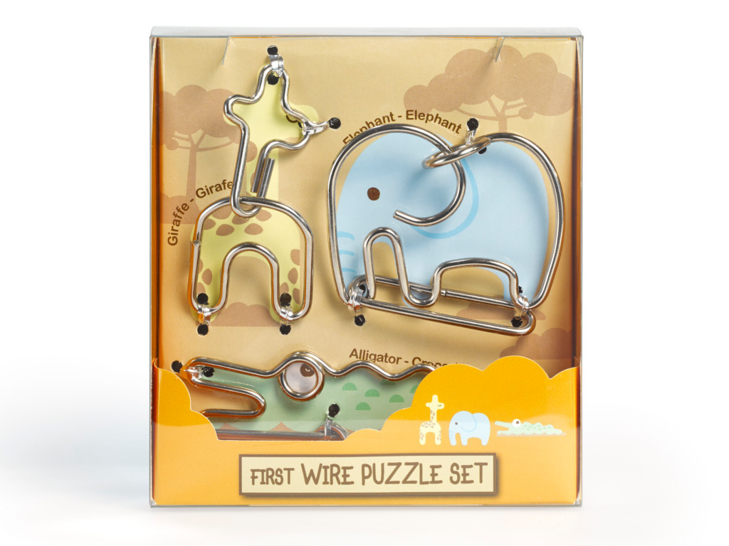 Knobelspiel/GeduldspielMetall Drahtpuzzle First Wire Puzzle Animal 02