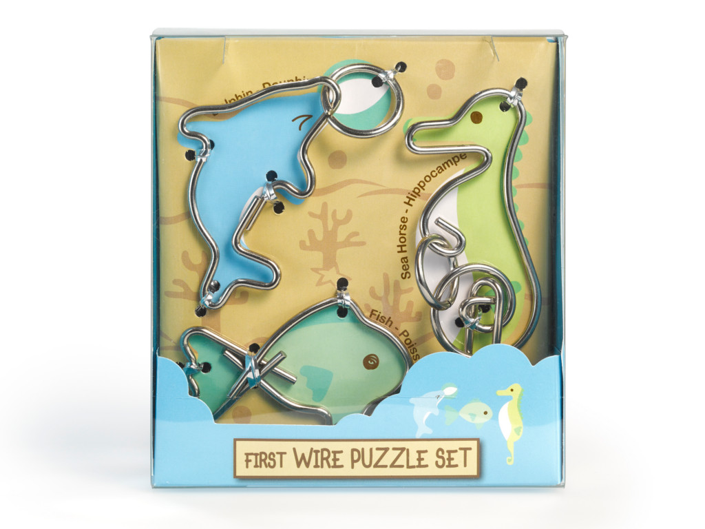 Knobelspiel/Geduldspiel Metall Drahtpuzzle First Wire Puzzle Aquatic