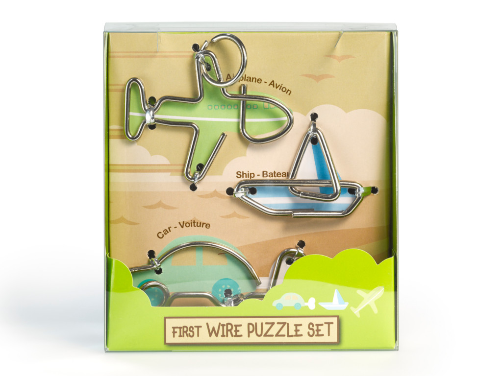 Knobelspiel/Geduldspiel Metall Drahtpuzzle First Wire Puzzle Transport