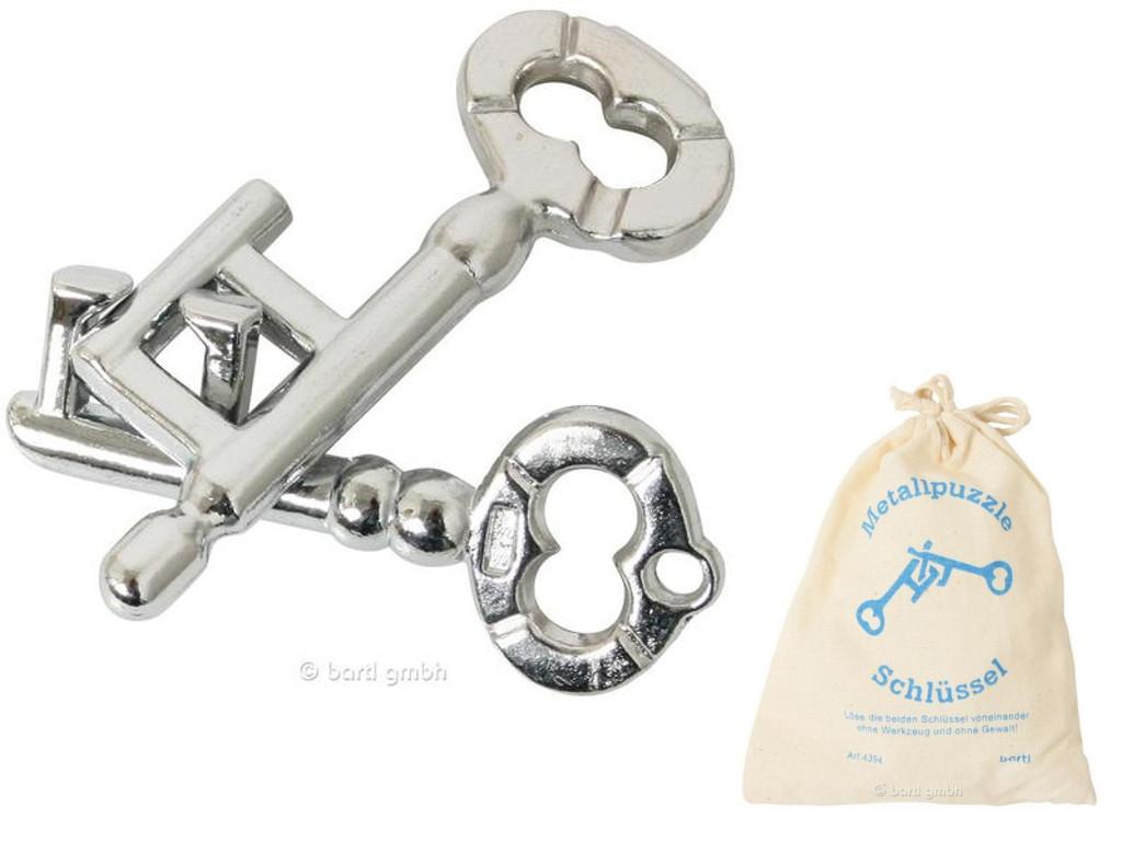 Knobelspiel/GeduldspielMetallpuzzle Schlüssel