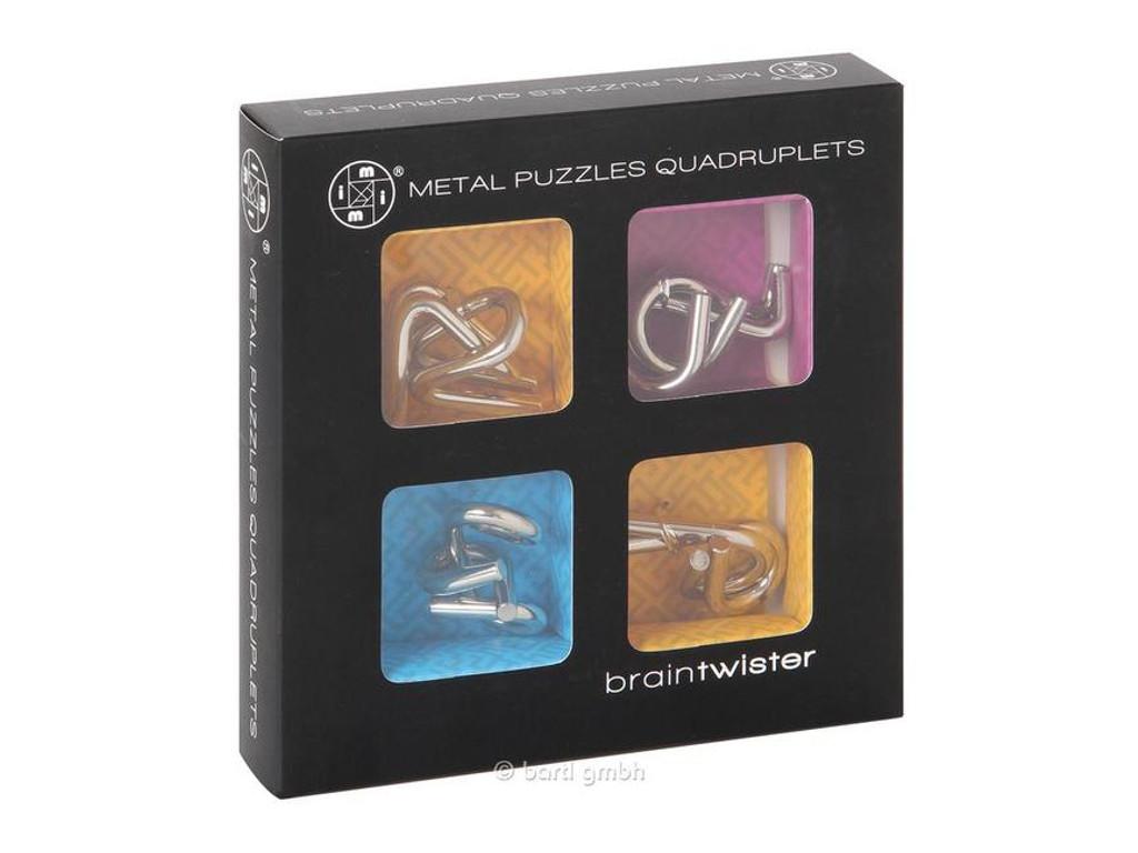 Knobelspiel/GeduldspielMetallpuzzle Metallpuzzle Quadruplets