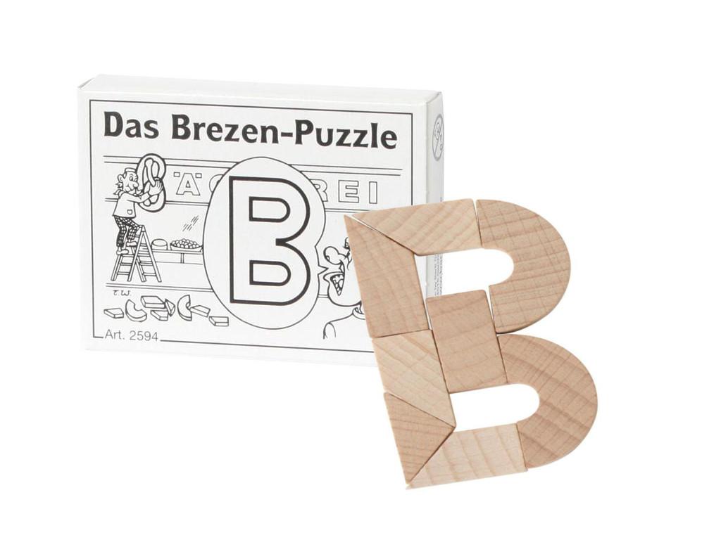 Knobelspiel/GeduldspielMini Puzzle Das Brezen-Puzzle