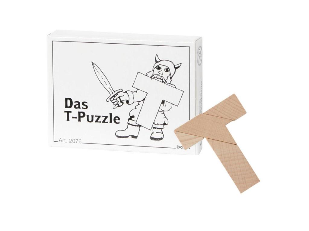 Knobelspiel/GeduldspielMini Puzzle Das T-Puzzle