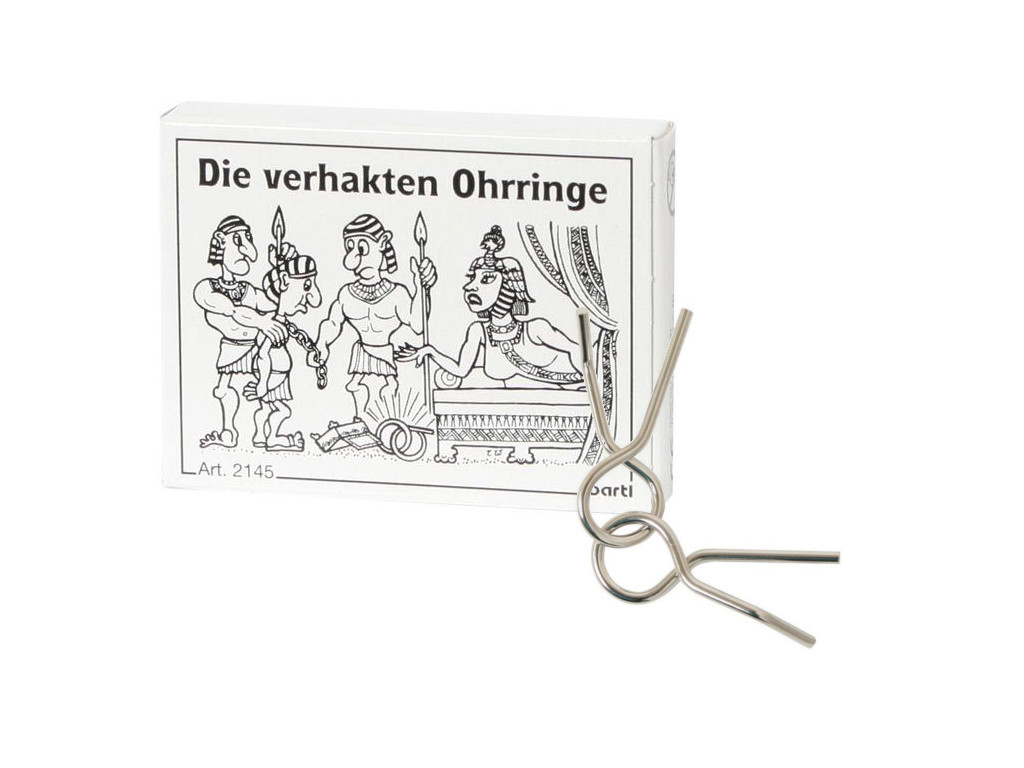 Knobelspiel/GeduldspielMini Puzzle Die verhakten Ohrringe