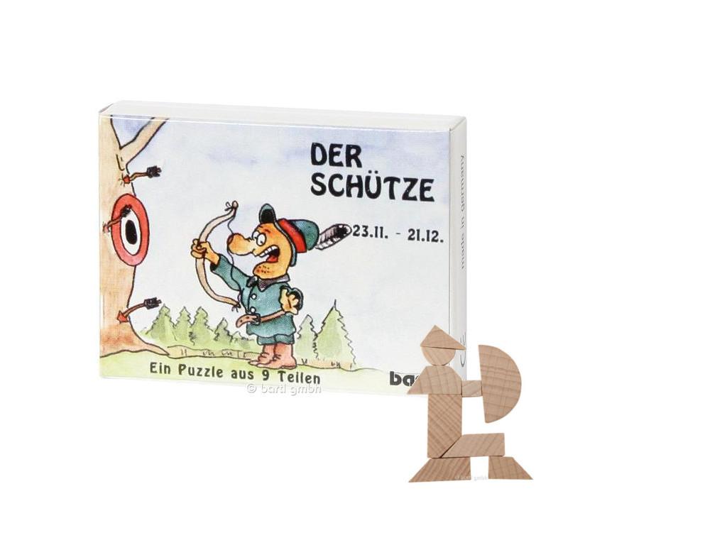 Knobelspiel/GeduldspielSternzeichen Schütze, Mini Puzzle