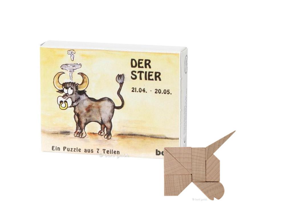 Knobelspiel/GeduldspielSternzeichen Stier, Mini Puzzle