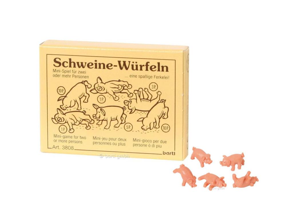 Knobelspiel/GeduldspielMini Spiel Schweine-Würfel