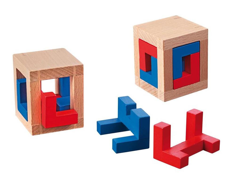 Knobelspiel/GeduldspielPackwürfel 4 Caged Puzzle
