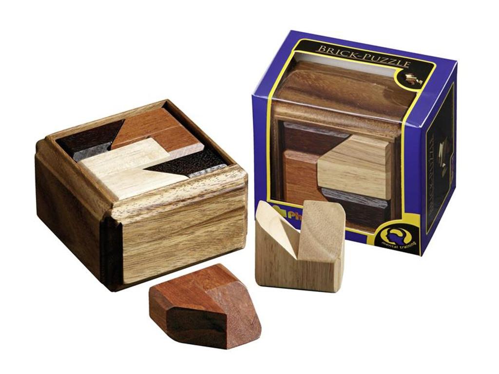 Knobelspiel/GeduldspielPackwürfel Brick-Puzzle