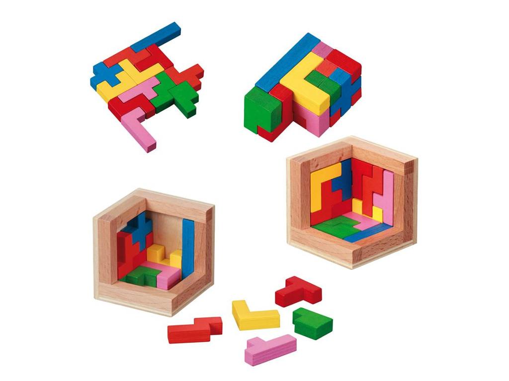 Knobelspiel/GeduldspielPackwürfel Pentominos Puzzle