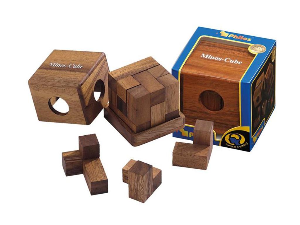 Knobelspiel/GeduldspielPackwürfel Minos-Cube