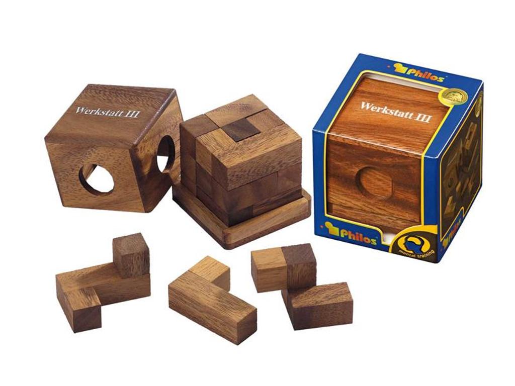 Knobelspiel/GeduldspielPackwürfel Werkstattwürfel III