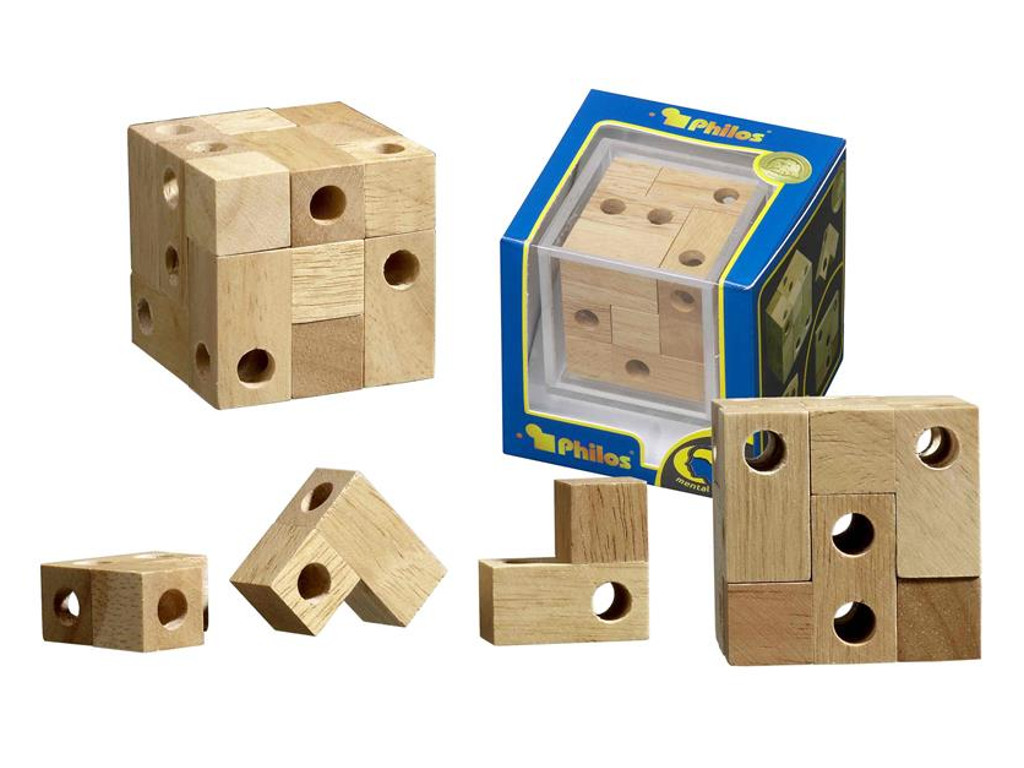 Knobelspiel/GeduldspielPackwürfel Würfel mit Durchblick