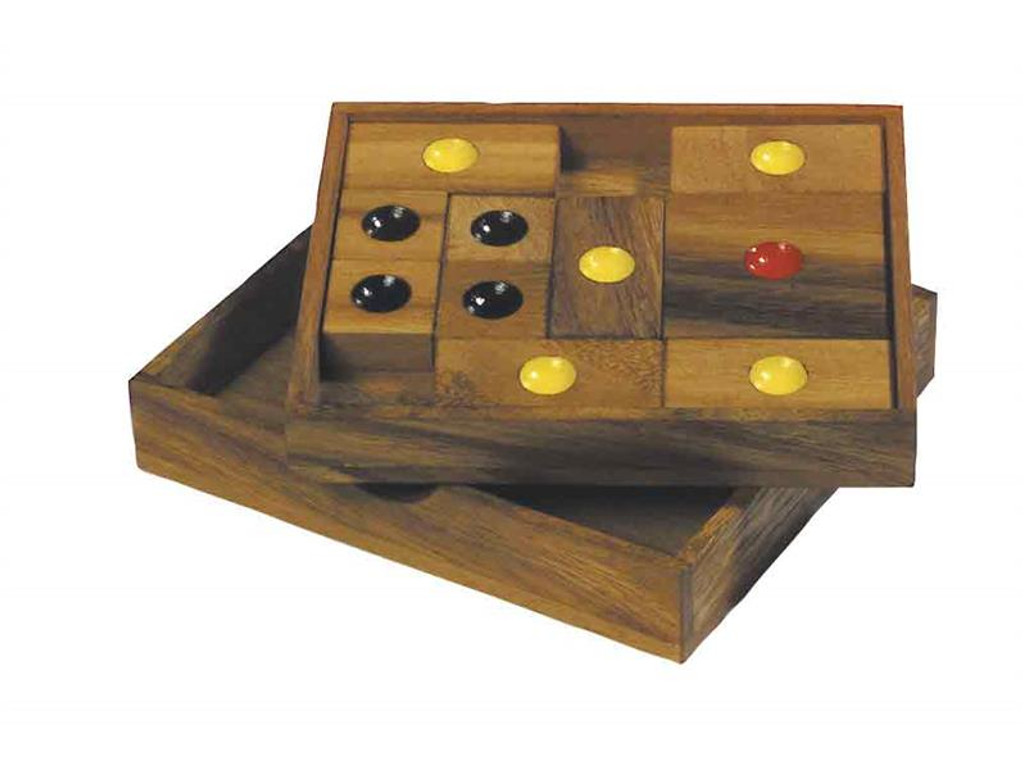 Knobelspiel/GeduldspielPuzzle Variante Khun Pan, mittel