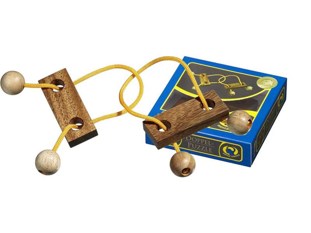 Knobelspiel/GeduldspielSeilpuzzle Doppel-Puzzle