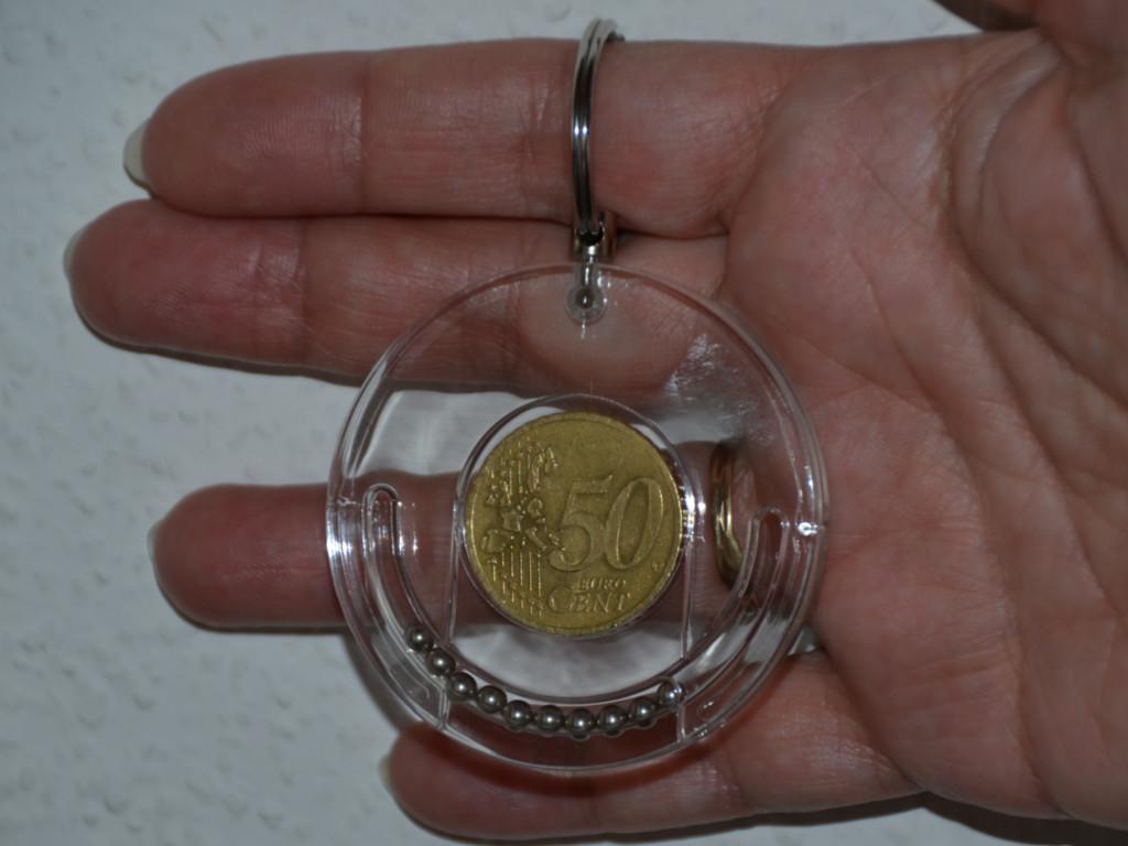 Knobelspiel/GeduldspielPuzzle mit Trick Coin-Bank