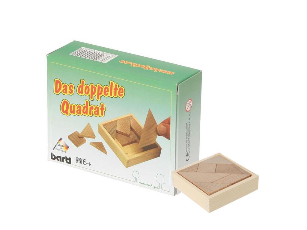 Knobelspiel/GeduldspielTaschenpuzzle Das doppelte Quadrat