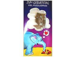 Knobelspiel/GeduldspielGeburtstagskarte Elefant