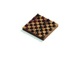 Knobelspiel/GeduldspielGesellschaftsspiel Dame, Mini-Spiel