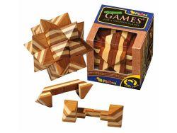 Knobelspiel/GeduldspielHolzknoten Apollo-Puzzle,Bambus