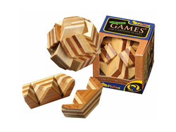 Holzknoten Ball-Puzzle,Bambus