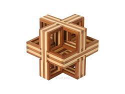 Knobelspiel/GeduldspielHolzknoten Bambus-Puzzle D