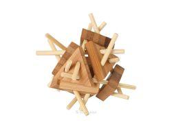 Knobelspiel/GeduldspielHolzknoten Bambus-Puzzle Dreiecke