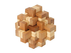 Knobelspiel/GeduldspielHolzknoten Bambus-Puzzle Kristallus